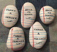 Group of back to school rocks. (08/21) Kindness Rocks, Paint Pens, School Teacher, Painted Rocks, Rock Painting, Group, Artist, Paint Sticks, Stone Painting