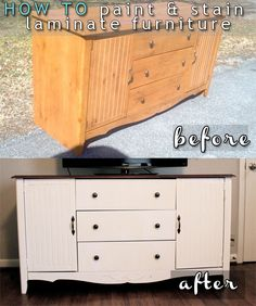 How To Paint & Stain Laminate Furniture Step-by-Step