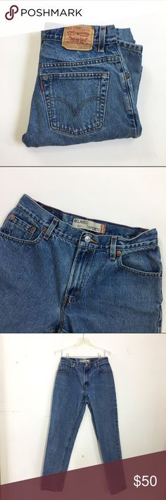 """Vintage Levi's 550 Mom Jeans Vintage Levi's 550 mom jeans. Relaxed, tapered fit. Worn-in to perfection! Size 10M. Approximate measurements (taken laid flat): 28.5"""" waist, 11"""" front rise, 40-41"""" hips, 30-30.5"""" inseam. ✨ tags: #550 #550s #levi #levis Levi's Jeans"""