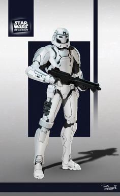 Star Wars ReDesign: Stormtrooper by Phil-Sanchez.deviantart.com on @DeviantArt