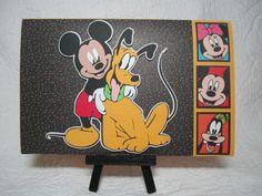 Mickey Mouse & Pluto Birthday Card #cricut