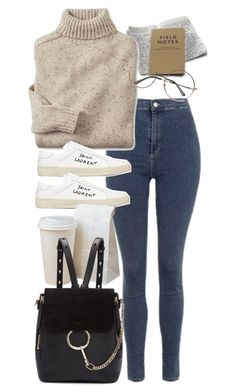 """""""Untitled #10153"""" by nikka-phillips ❤ liked on Polyvore featuring Topshop, Yves Saint Laurent and Chloé"""