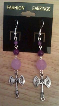 Lavender Labrys Earrings