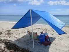 Make $15 Beach Shade tent Easy Quick DIY - YouTube