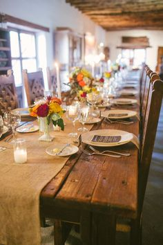 indoor rustic reception // photo by Kat Bevel // styling by Beau Tied Events