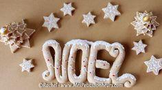 décorations de noel en pate a sel décorée
