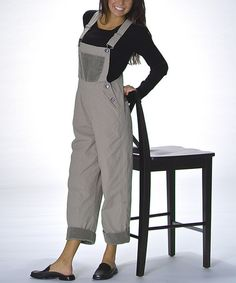 Look at this Goddess Gear Pewter Crop Organic Overalls - Women on #zulily today!