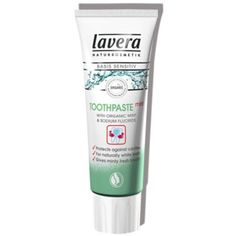 Fluoride Free Lavera organic toothpaste with echinacea and propolis from the basis sensitiv range for healthy teeth and gums, see lavera toothpaste at Pravera Organic Toothpaste, Propolis, Dental Services, Healthy Teeth, Natural Essential Oils, Oral Hygiene, Facial Care, Natural Cosmetics, Dental Care