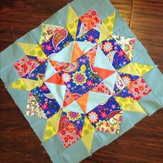 Scrappy swoon quilt block!