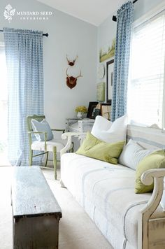 Love Mustard Seed loves of light blue and green.  very springy!