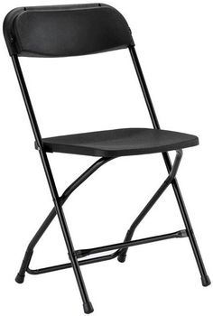 Chair Rentals- Black Plastic Folding Chair. Complete the look with a matching table runner and chair sash. Check out more wedding and event chairs at Eventrentalutah.com or follow our board on Pinterest