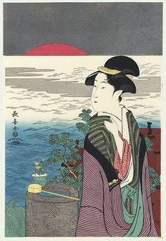 sunrise at new year / choki / active circa 1785 - 1805