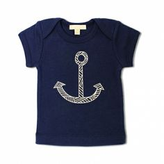 Short sleeve navy tee with anchor - hardtofind.