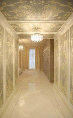 textured monochromatic hallway