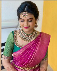 Kerala Saree Blouse Designs, Half Saree Designs, Fancy Blouse Designs, Bridal Blouse Designs, Blouse Neck Designs, Sarees, Indian Bridal, Gold, Waist Belts