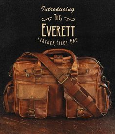 Men's vintage leather briefcase bag by Buffalo Jackson Trading Co. Designed to withstand the elements of adventure, but with an eye-catching quality any rugged gentleman would be proud to carry. pilot bag   laptop bag   men's style
