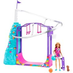 Barbie Team Stacie Extreme Sports Playset with Doll, Puppy, Gear and 5 Activities Mattel Barbie, Barbie Shop, Barbie Doll Set, Doll Clothes Barbie, Barbie Doll Stuff, Barbies Dolls, Ken Doll, Will Turner, Kids Role Play