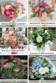BOUQUET BREAKDOWN  Have you found a picture of the perfect bouquet or centerpiece for your wedding? A beautiful flower crown or the perfect boutonniere but have no idea what flowers to buy or how to tell your florist exactly what you want? Ask the DIY Wedding Planner! #bouquetbreakdown