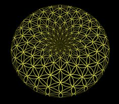 El punto vacío, lleno de energía, desde donde surge la geometría que es el espíritu-mapa de todos las cosas y los seres. Gif