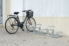 6 Space High-Low Bicycle Rack