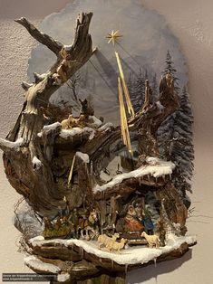 Christmas Tree Design, Christmas Nativity, Handmade Christmas, Christmas Decorations, Stone Fireplace Designs, Nativity Stable, Diy Weihnachten, Ancient Rome, Diorama