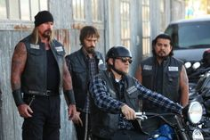Still of Charlie Hunnam, Jacob Vargas, Niko Nicotera and Rusty Coones in Sons of Anarchy (2008)