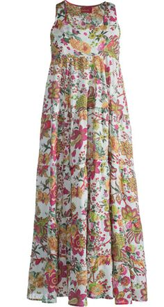 Hippy Dress Bohemian Hippy Floral Print Tiered Maxi Dress Fair Trade By Folio Gothic Hippy D288