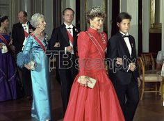 Queen Ingrid wore this tiara for Crown Prince Haakon of Norway's Confirmation on October 9, 1988.