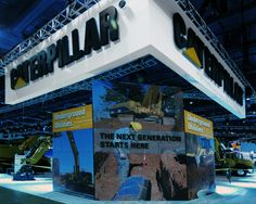 Exhibition Display Stand for Caterpillar during its participation in Con Expo event at Las Vegas, USA. Do you want a free design? Contact us http://www.expodisplayservice.ae/FreeDesign.aspx