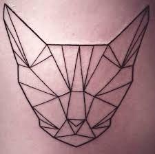 geometric cat tattoo - Szukaj w Google
