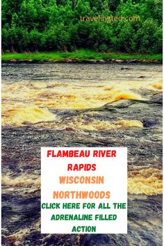 For the adrenaline junkies - Canoeing the Flambeau River Rapids in the Wisconsin northwoods Canoeing, Adventure Travel, Wisconsin, River, Outdoor, Outdoors, Adventure Tours, Outdoor Games, Canoes