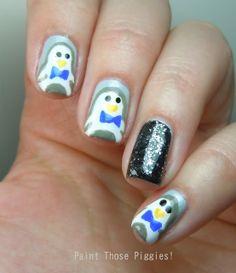Paint Those Piggies!: Penguins #nail #nails #nailart