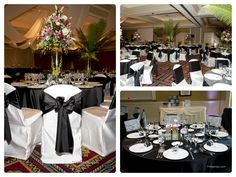 Black and white #wedding receptions.  #chicagoweddings