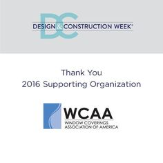 Thank you @wcaanational! #DCW2016 #IBSVegas #KBIS2016 #windowcoverings #windowdressing #windowtreatments #homedesign #windowtreatment #windowblinds #residentialdesign #wcaaproud #interiordesign by intlbuildersshow http://discoverdmci.com