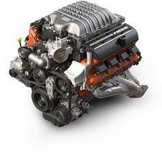 2015 Dodge Charger SRT Hellcat V8 Engine. Exerting a monstrous 707 horsepower and 650 lb-ft of torque