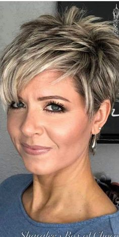 Short Cropped Hair, Funky Short Hair, Short Thin Hair, Short Hair Wigs, Short Hair With Layers, Short Hair Cuts For Women, Short Hair Styles, Hairstyles For Fat Faces, Short Spiky Hairstyles