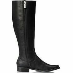 *Priced to Sell*NIB CK Talloria Boots-Black *5XHP* A great  pair of staple black boots for fall/winter. Knee high style with inner side zip all the way down for easy on/off. The last 3 pics are the actual merchandise. Only tried on in the house. Material: Grainy leather upper, leather lining and insole. Man- made outsole. Calvin Klein Shoes