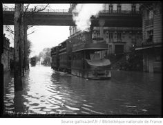 Inondations, 24/1/10, tramway Louvre-Versailles [Paris, tramway roues dans l'eau] : [photographie de presse] / [Agence Rol] - 1