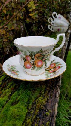 Apples Royal Albert Teacup and Saucer/Mad Hatter Tea party/Alice in Wonderland by TasteOfWonderland on Etsy