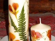 Bellart Atelier: Como fazer velas com flores secas.