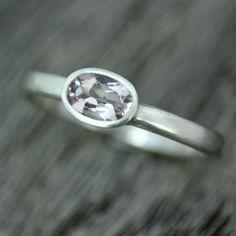 Eco-friendly Morganite Gemstone Ring by Victoria Jarman