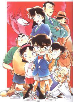 Aoyama Goushou, Meitantei Conan, Megure Juzou, Kudou Shinichi, Tsuburaya Mitsuhiko, Mouri Kogoro