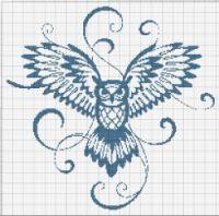 Cross Stitch Silhouette, Cross Stitch Charts, Arabic Calligraphy, Owls, Punto De Cruz, Dots, Colors, Owl, Arabic Calligraphy Art