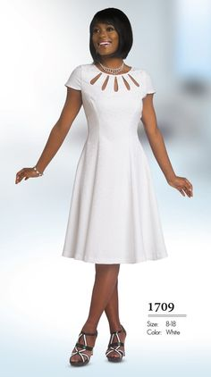 Stunning dress by in a novelty fabric. Great church dress, work dress or special occasion dress. Available in missy and plus sizes. #churchdress #fitritefashions #dress
