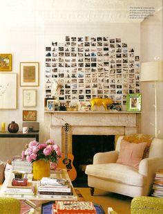 use polaroids as wall art