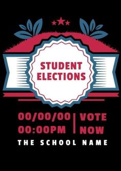Contrast Beautiful Illustration of black red and blue for student elections Student Council Posters, Red And Blue, Contrast, Names, Colours, School, Illustration, Beautiful, Black