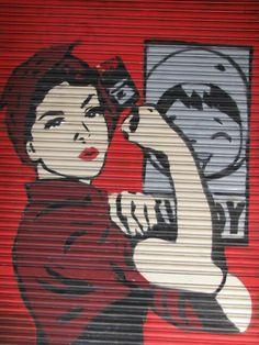 Feminine strength -  Barcelona Street Art style.