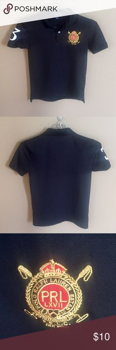 Boys 👕 Black Polo with gold logo. Great condition! Polo by Ralph Lauren Shirts & Tops Polos