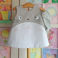 Totoro dress 6-9 months, my neighbor totoro clothing, studio ghibli by pipocass on Etsy https://www.etsy.com/listing/230972235/totoro-dress-6-9-months-my-neighbor