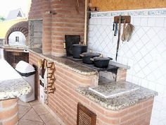 fogao forno e churrasqueira - Pesquisa Google Outdoor Bbq Kitchen, Outdoor Oven, Outdoor Cooking, Vintage Stoves, Stove Fireplace, Dream Home Design, Beautiful Living Rooms, Small House Plans, Interior Design Living Room